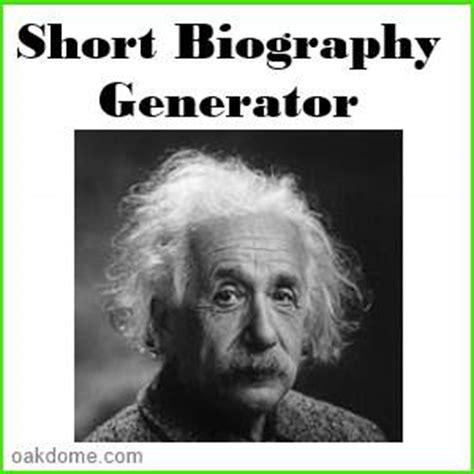 biography generator free help desk research paper