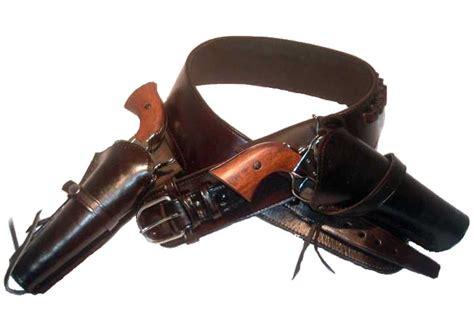 western cowboy leather drop loop gun belt with side