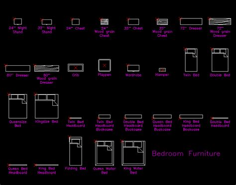 bedrooms dwg block  autocad designs cad