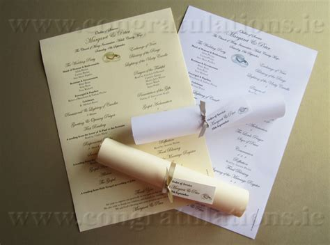 wedding scroll template wedding order of service scroll template for cakes
