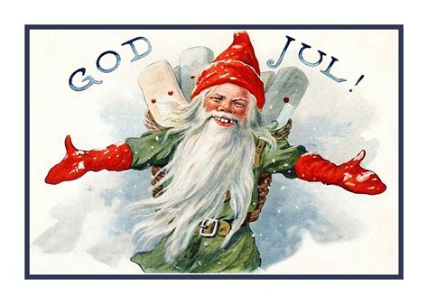 swedish jenny nystrom gnome elf god jul christmas counted