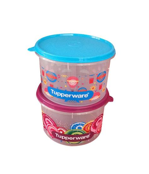 Tupperware Small Crispy Storer 2pcs tupperware printed store all canister medium 1 3 l 2pcs buy at best price in india