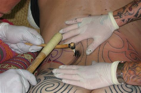 modern tattoo process teachartwiki maori moko tattoos