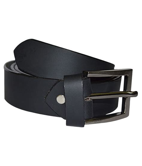 kesari black genuine leather belt buy at low price