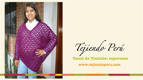 como tejer poncho con manga poncho con mangas tejido a crochet youtube