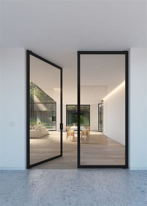 Glass Doors Glass Door With Quot Steel Look Quot Frames Portapivot H O M E Glass
