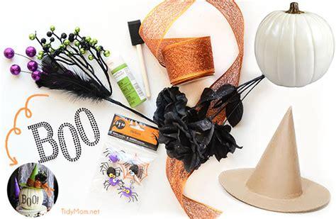 Witch Halloween Crafts - easy halloween craft pumpkin witch hat