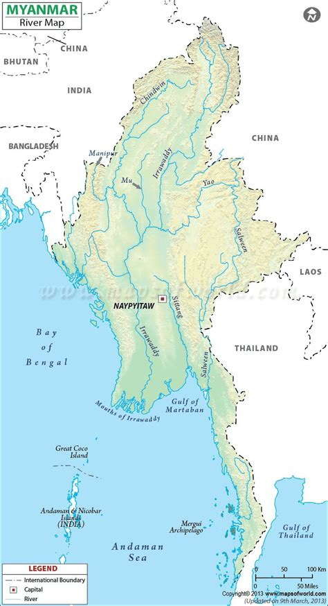where is myanmar on the map rivers of myanmar