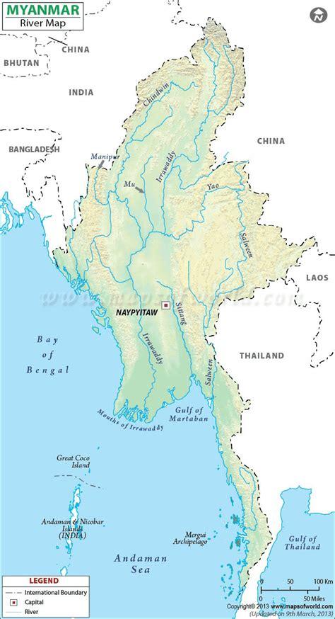 river map myanmar river map burma rivers
