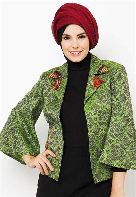 Atasan Muslimah Zhafirah Tnk 002 ッ 20 model blazer batik wanita muslimah dian pelangi