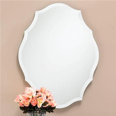 bathroom mirrors radiance scallop top frameless with or 1000 images about master bath on pinterest