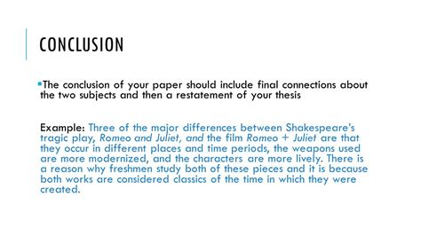 dissertation conclusion how to write a compare contrast essay ppt