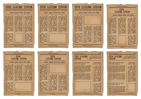 newspaper template vector set   vector