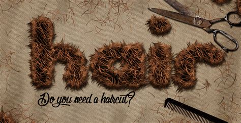 tutorial adobe photoshop text effect create hair text effect in adobe photoshop photoshop
