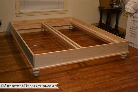 raised platform bed frame diy stained wood raised platform bed frame part 1 new