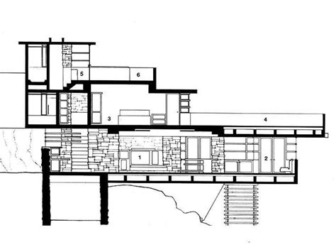 frank lloyd wright falling water floor plan falling water house plans and elevations escortsea
