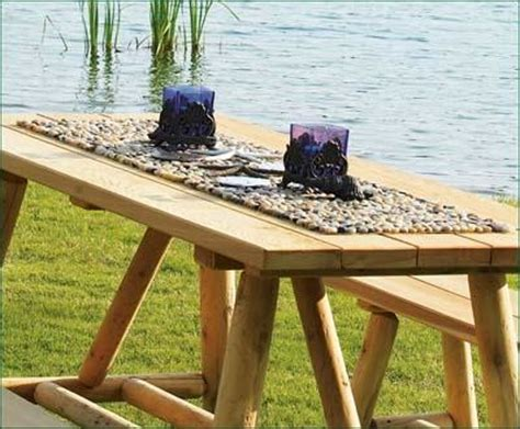 Outdoor Table Runner Beach Stone Table Runner Traditional Table Runners