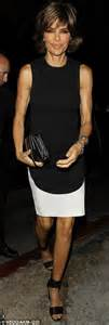 lisa rinna no shirt she s there in black and white lisa rinna wears fashion