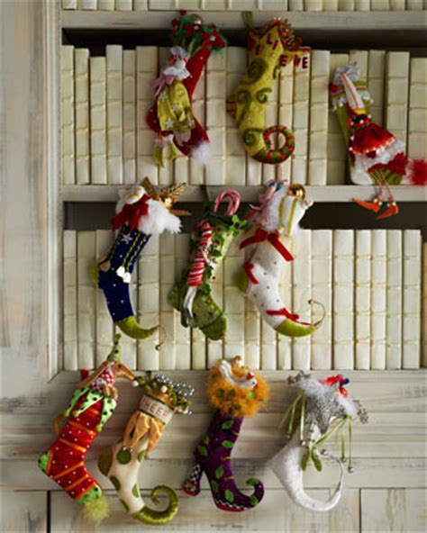 patience brewster christmas stockings patience brewster ten tiny traditional decorations by horchow