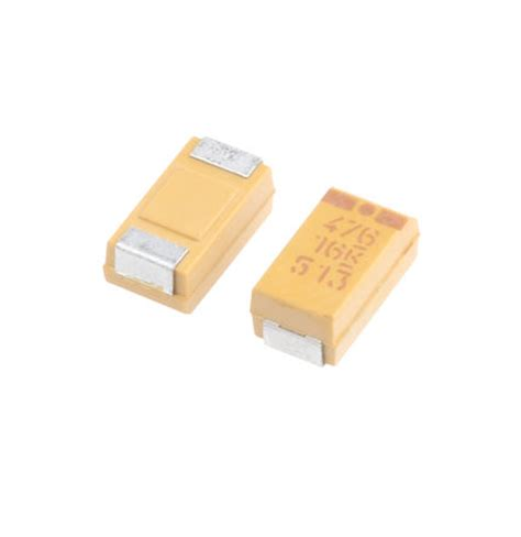 tantalum capacitor mno2 t494c476k016at kemet 47μf solid mno2 tantalum electrolytic capacitor 16 v dc 177 10 t494