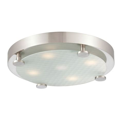philips 190142217 brushed nickel flush 5 light led