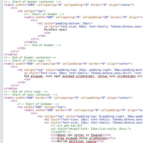 basic html template code html for templates codes 28 images how to create a