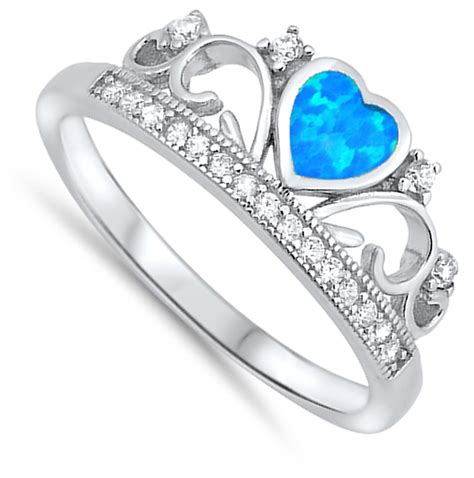 tiara ring new 925 sterling silver promise