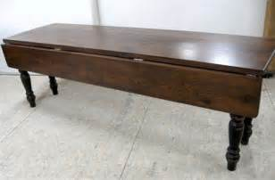 Duncan Phyfe Dining Room Table drop leaf table made from reclaimed old oak farmhouse