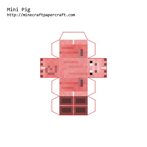 Papercraft Pig - minecraft papercraft mini animals www pixshark