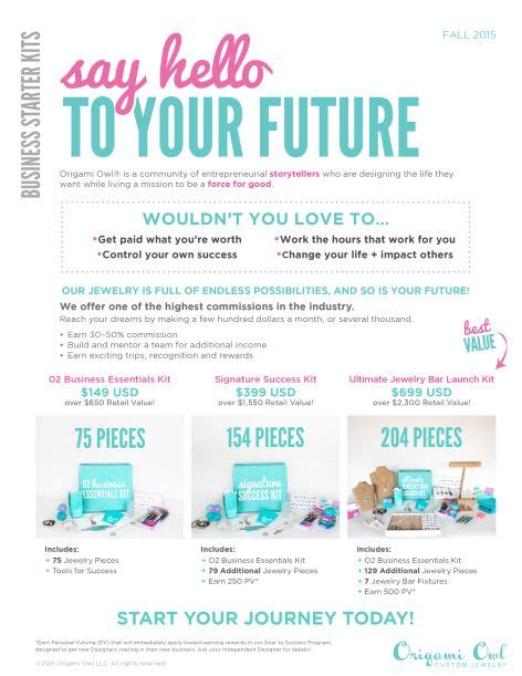 Origami Owl Brochure - origami owl fall 2015 business kit options for more info
