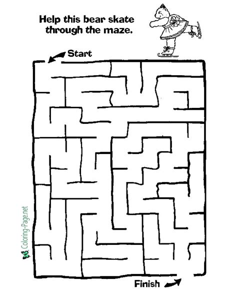maze coloring pages printable coloring page for kids printable mazes