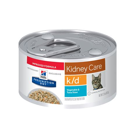 kidney care food hill s prescription diet k d kidney care vegetable tuna stew canned cat food petco