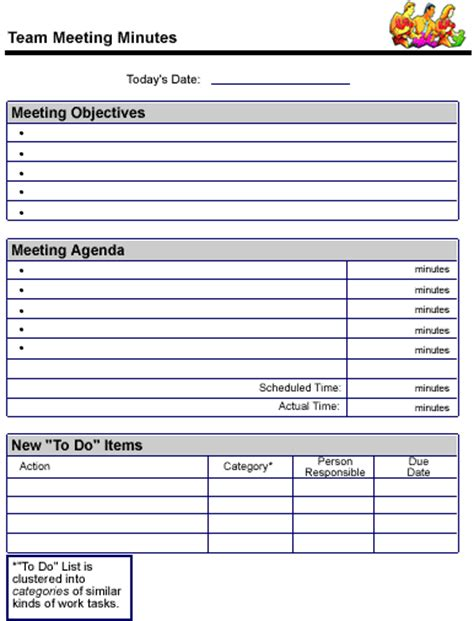 Team Meeting Minutes Sle Page Team Meeting Minutes Template Free