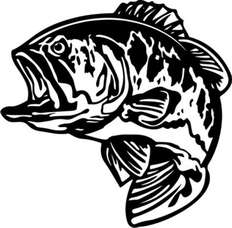 bass pro shop boat hook bass fish fishing vinyl decal sticker 2