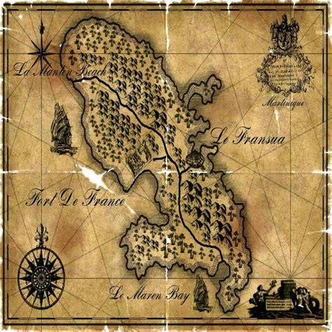 Carte de la Martinique Ancienne