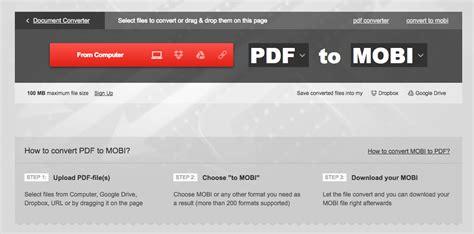 best pdf to mobi converter free program how to convert ebook to mobi tubelead