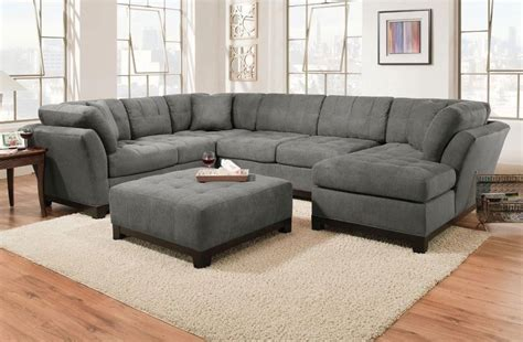 Corinthian Sectional by Corinthian Loxley Charcoal Right Side Facing Chaise