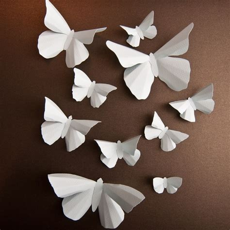 Paper Butterfly Decorations by Butterflies An Edgy Effect Freidafroo