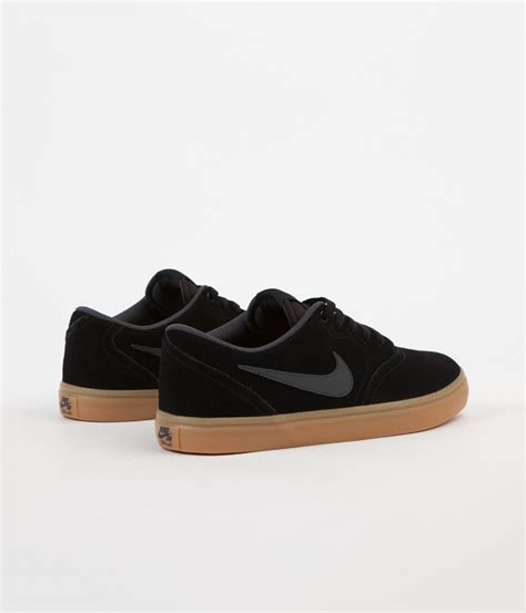 kaos nike sb black 35 nike sb check solarsoft shoes black anthracite gum