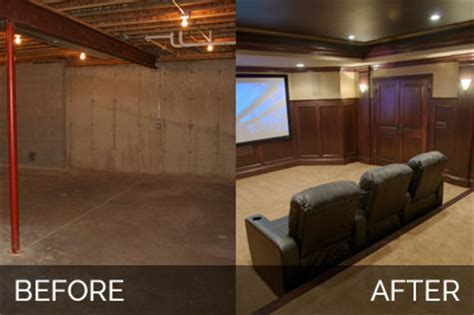 Steve & Elaine's Basement Before & After Pictures   Home Remodeling Contractors   Sebring Services