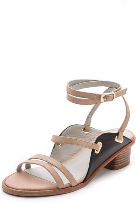 beige sandals low heel plomo antoinette strappy low heel sandals beigeblack in