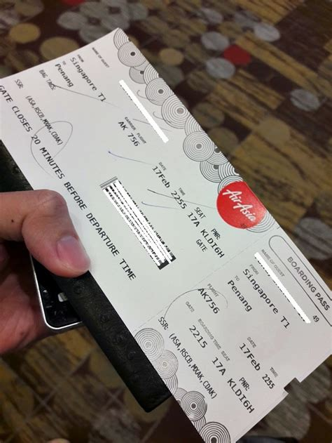 airasia print ticket review of air asia flight from singapore to penang in economy