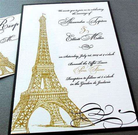 eiffel tower themed wedding invitations eiffel tower invitations weddings quincea 241 era by