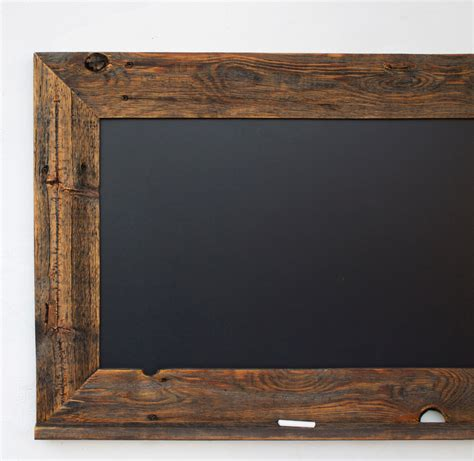 Wood Frame by Wood Chalkboard With Ledge Reclaimed Wood Frame By