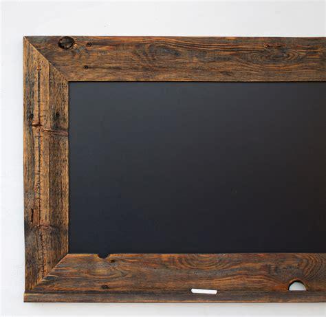 rustic wood frame wood chalkboard with ledge reclaimed wood frame by hurdandhoney