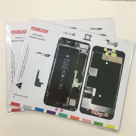 iphone 8 plus x magnetic mat repair technician disassembly pad phone maintenance platform