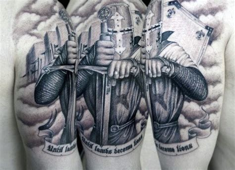 astounding knight tattoo design parryz com