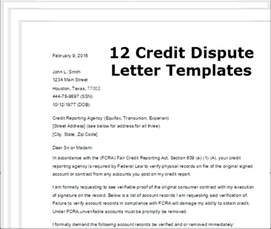 Dispute Letter To Creditor Template by Credit Dispute Letter Template Best Business Template