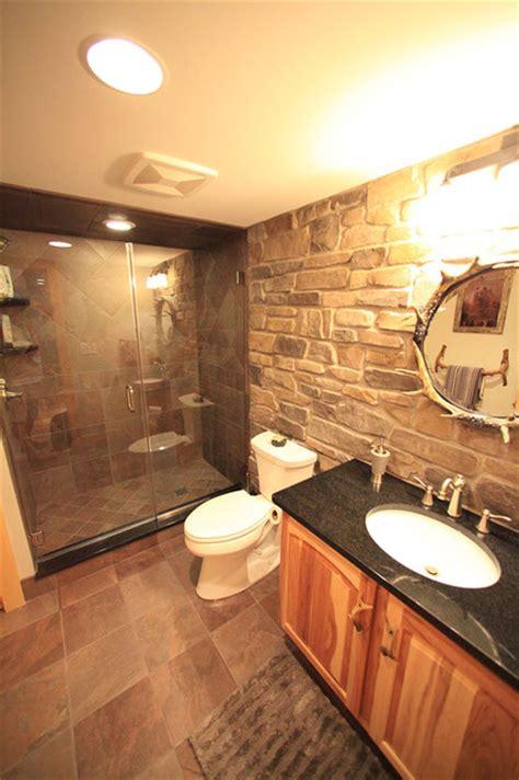 basement fitters custom basement remodel hickory rustic bathroom