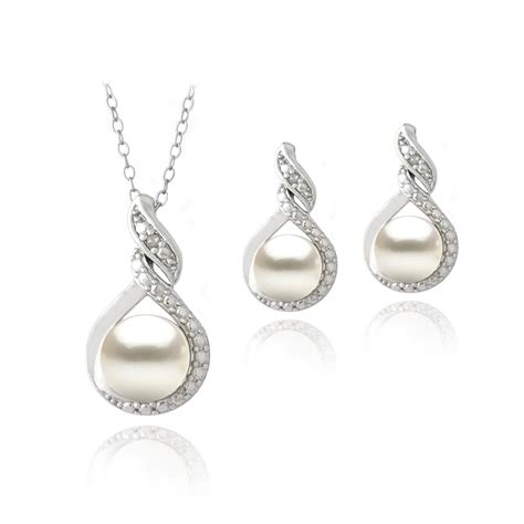 sterling silver freshwater pearl pearl necklace
